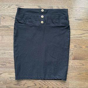 💫3 for $10💫 Black Button Skirt